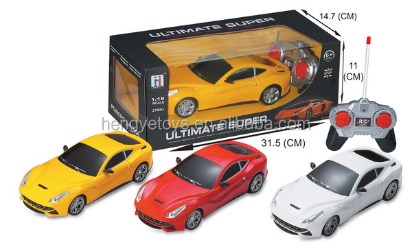 Newest 1:18 4ch Unique design emulation sports high speed rc car toys with light BT-003499