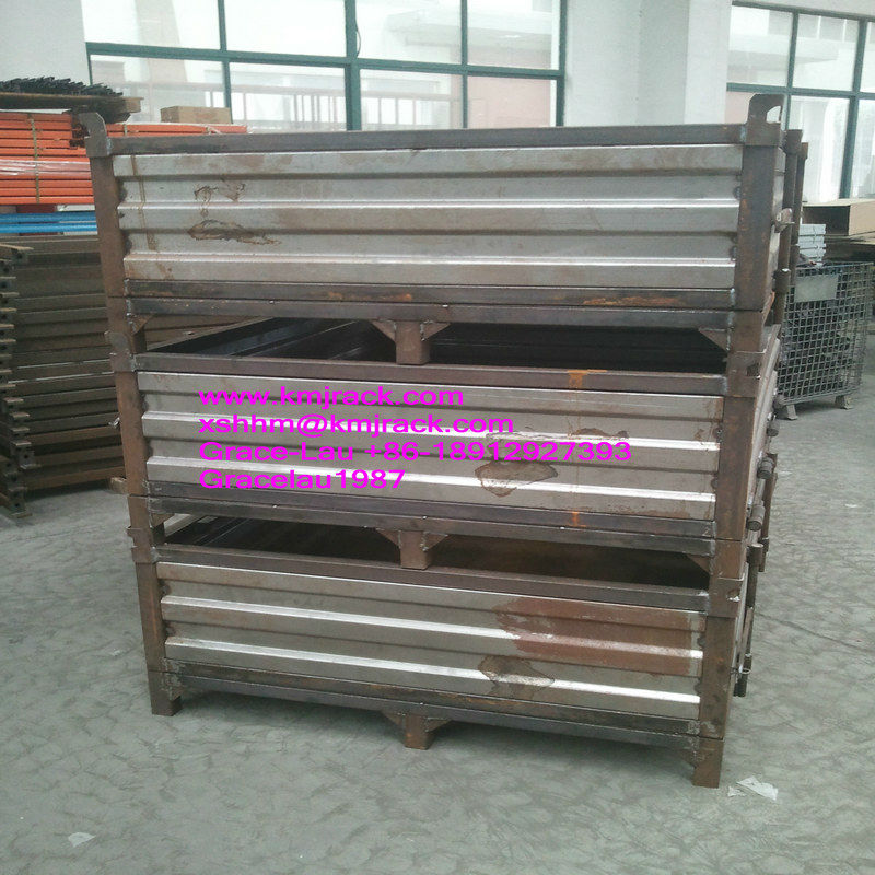 Corrugated Solid Sided Metal Bulk Containers w. Optional Doors Hopper Front Lugs_(SBC-N)