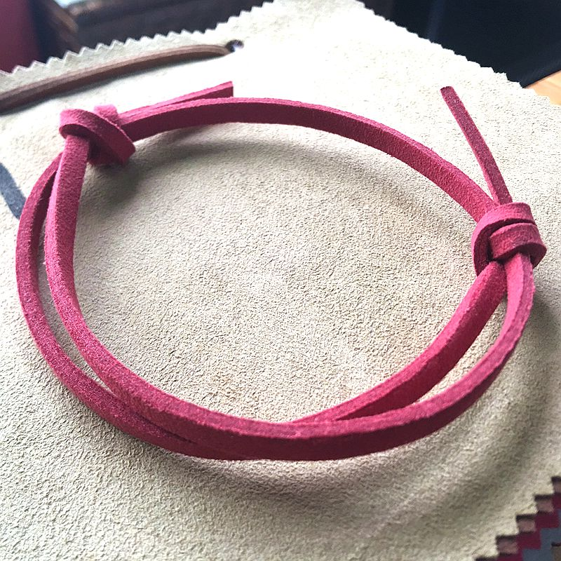 knot technique bracelet  Hand-made Leather bracelet   Suede Hand Ring  Handmade fashionable leather decorative Bracelet