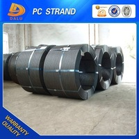 7 wire 12.7mm 1860Mpa PC strand steel for buildings and high tensile low relaxation