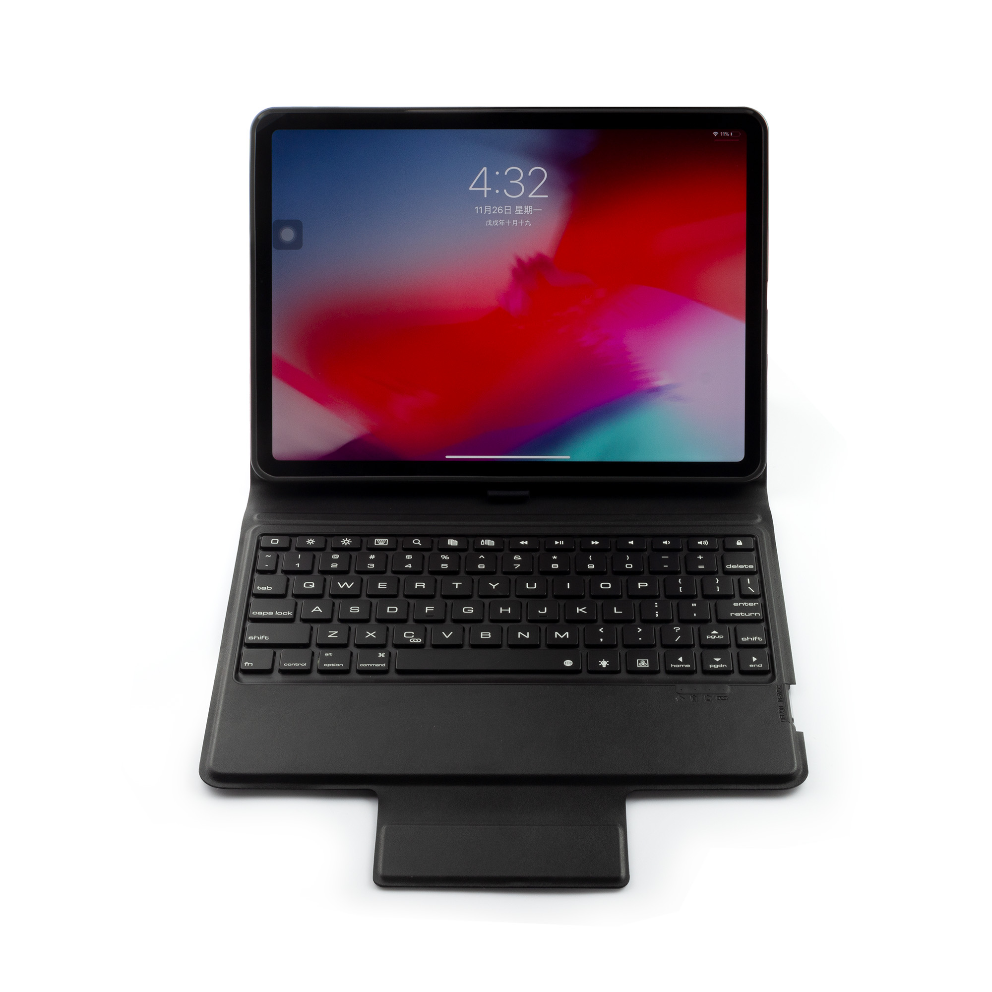 Hot sales folding comfortable Bluetooth wireless keyboard Leather protect case for <strong>Ipad</strong> Pro 11
