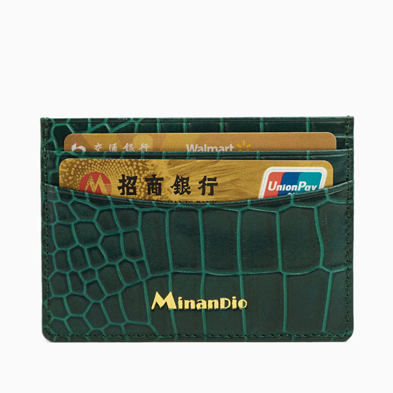 Customized id card holder/ Alligator pattern leather credit card holder /business style cardholder for men
