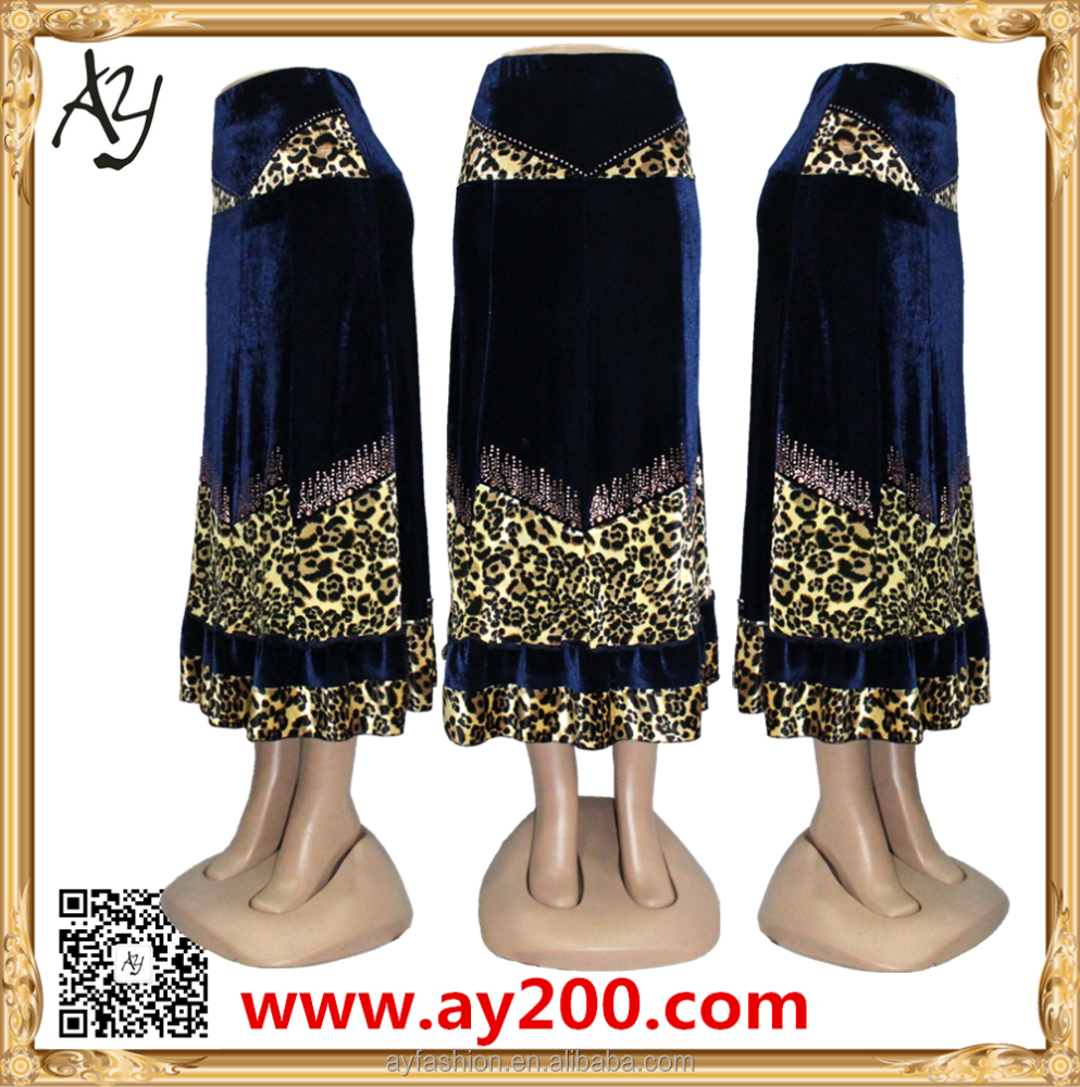 2015 New Latest Design Muslim Skirt Pencil Skirt Long Skirt Models