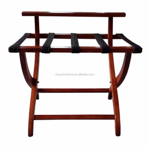 folding wooden hotel room luggage rack