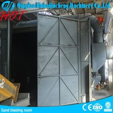 sand blasting room with automatic recovery system /shot blasting booth