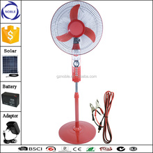 16inch/18inch 12v solar stand dc fan with LED lamp and Timer