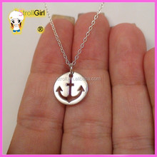 custom infinity 925 sterling silver Anchor Charm Necklace