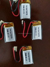high discharge rate Li polymer battery PL651730 250mah 20C for remote control aircraft and Toy model