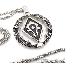 Game Fashion Jewelry Necklace for Women Men WOW Horde Symbol Necklace Titanium Steel Pendant