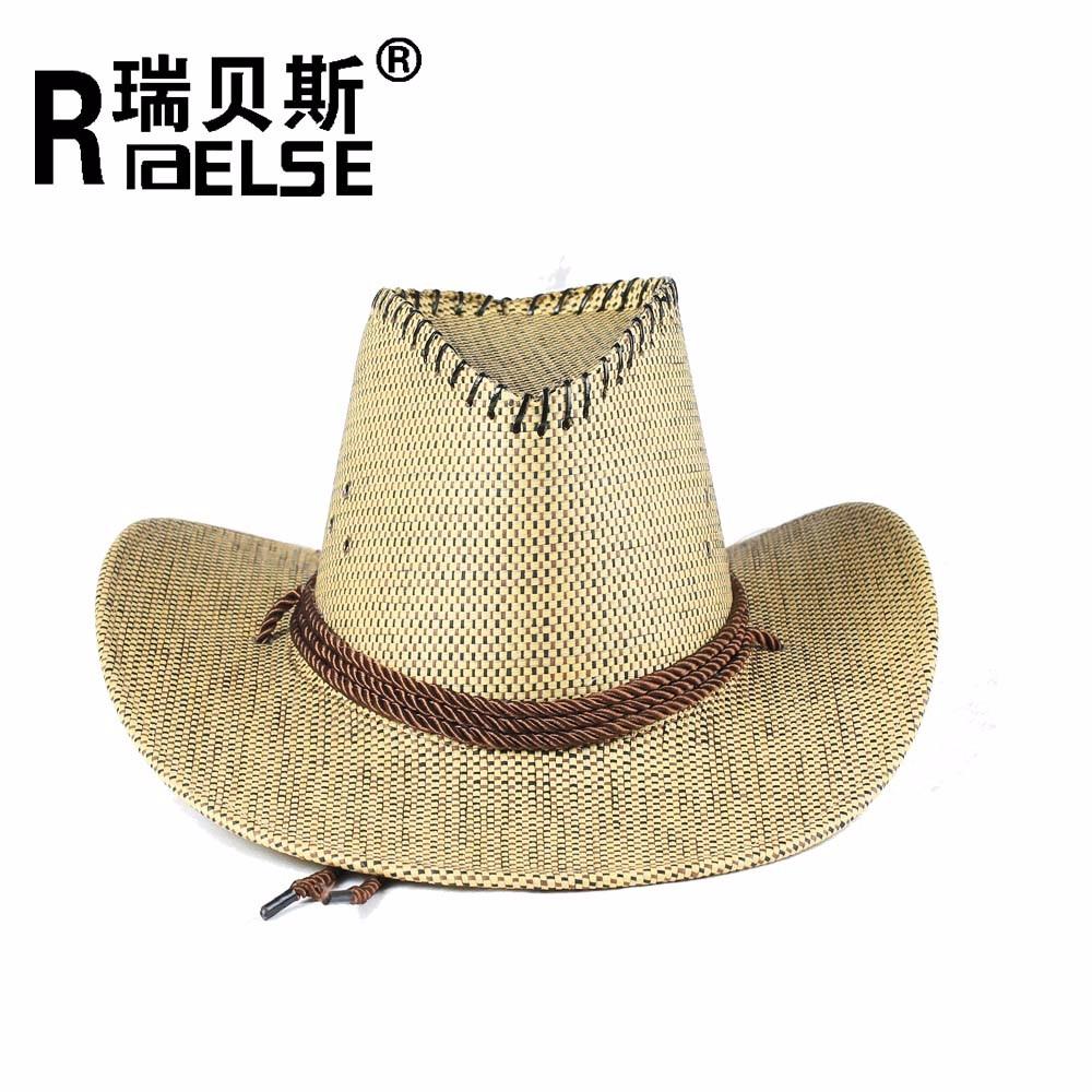 Verano hombres sombrero ala ancha al aire libre sombreros de vaquero ...