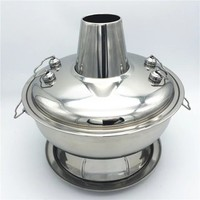 Wholesale stainless steel round chaffy dish / royal hot pot
