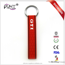 Cheap Wholesale Silicone Rubber GTI Keychain For Car Key