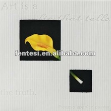 2012 marble yellow hanging picture of Calla Lily flower