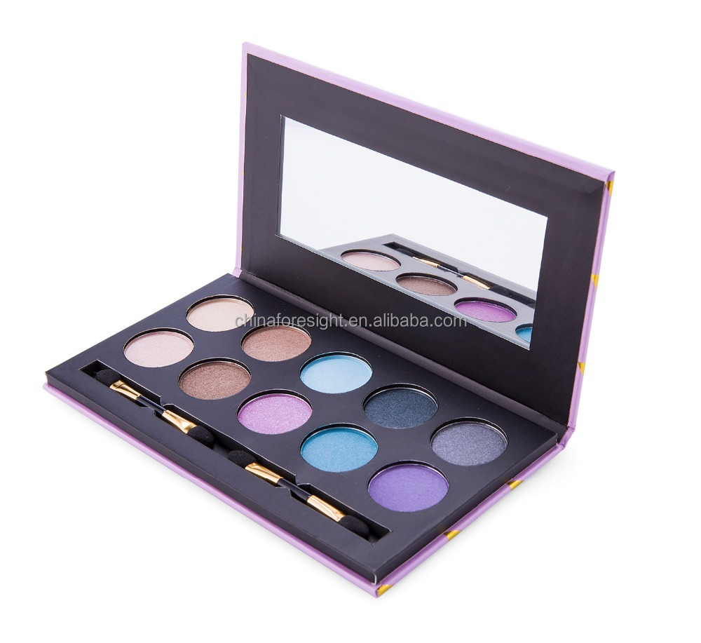 Hot sale your own brand makeup 6 color private label glitter eyeshadow with fashion eyeshadow packaging