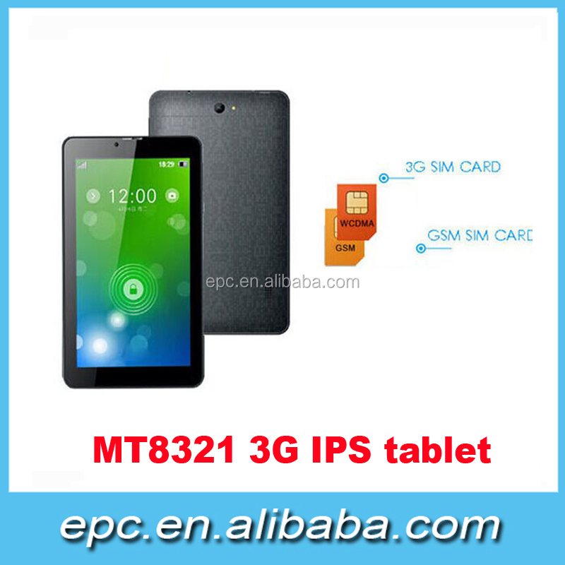 Cheapest Quad Core 7inch DDR 1G Android Tablet pc, 1024*600 Screen 3G Tablet With FM Bluetooth GPS