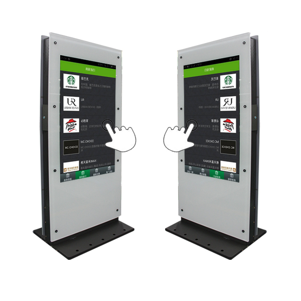 "Customized enclosure OEM 55"" Double sides Touch Screen interactive kiosk for Airport"