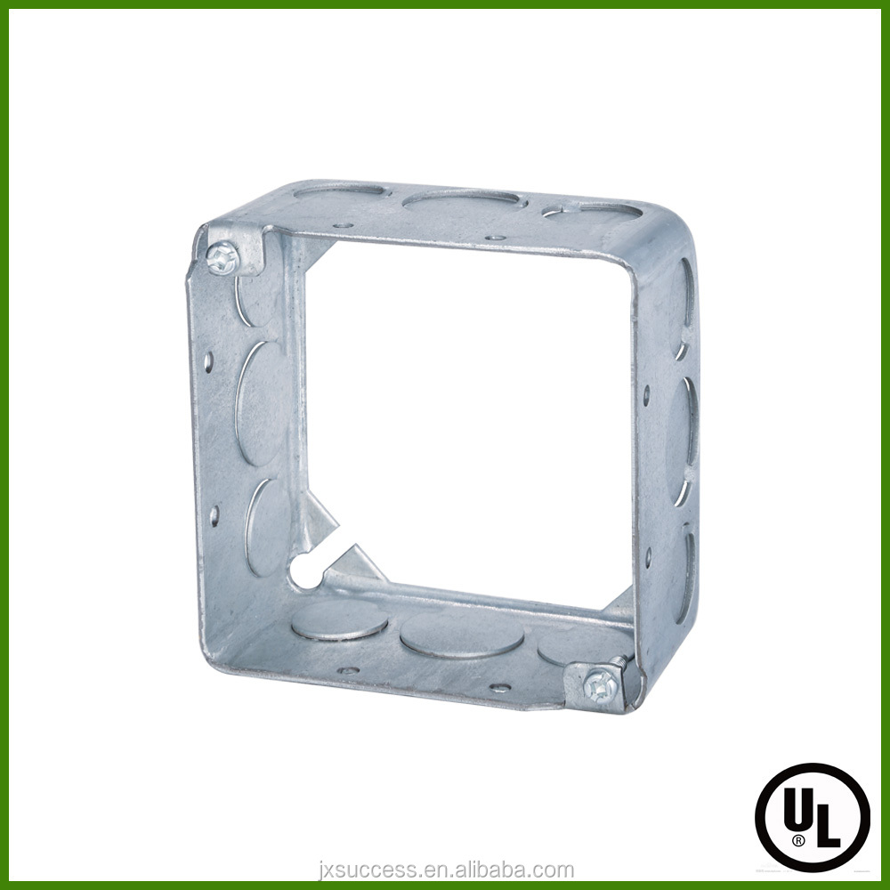 UL Standard Square galvanized steel switch extension box