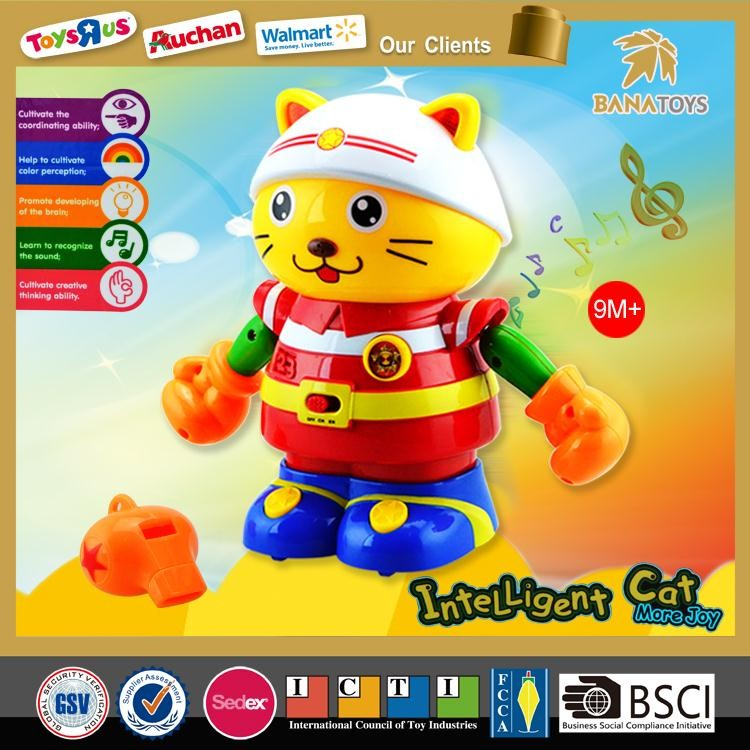 Intelligent robot toy plastic cats