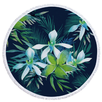 New Products Palm Tree Round Microfiber Towel Beach