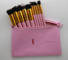 kylie 10pcs Makeup Brush Set Cosmetic Make Up Tools Kit Woman's Toiletry Kit with bag