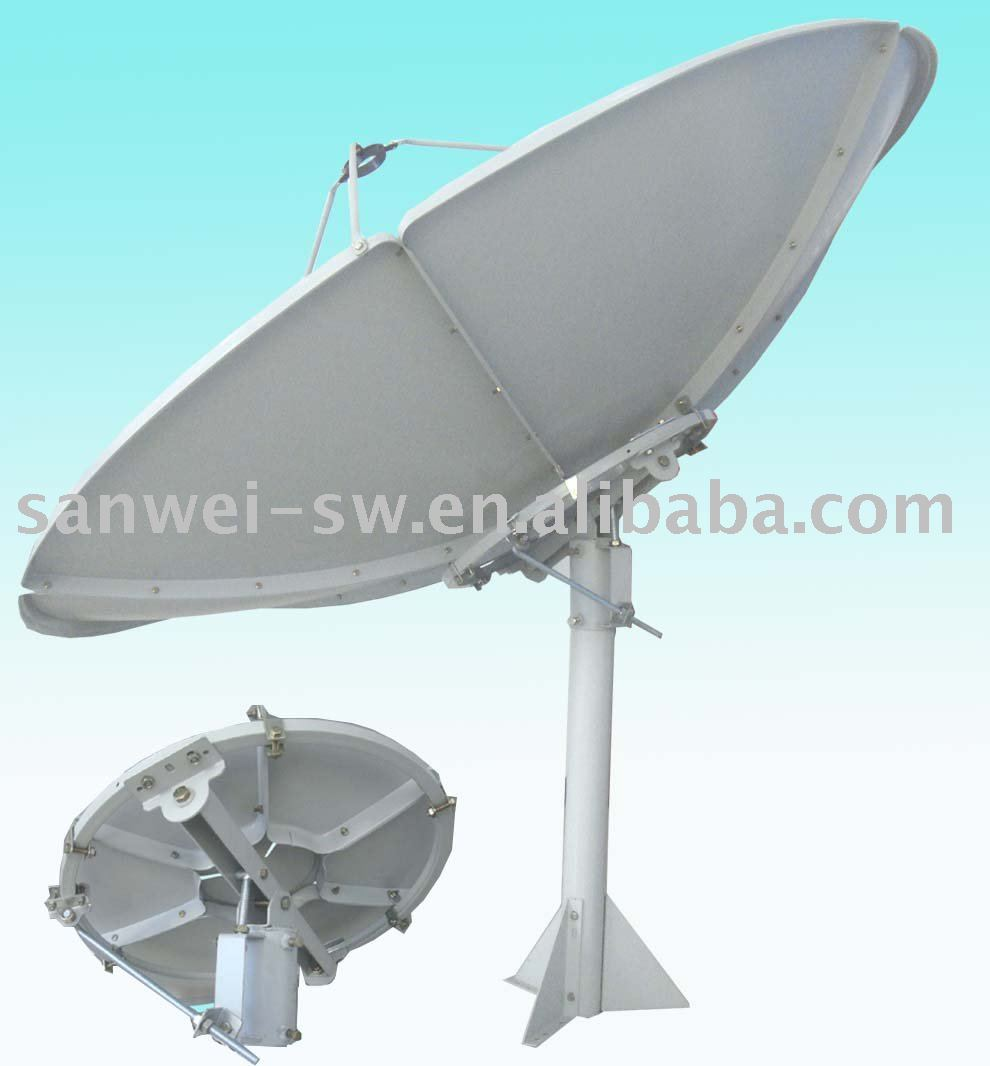 polar axis c band 180cm satellite dish