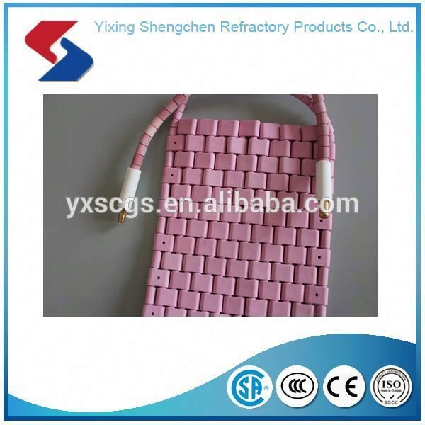 Protective Crawler-type flexible ceramic pad heater element