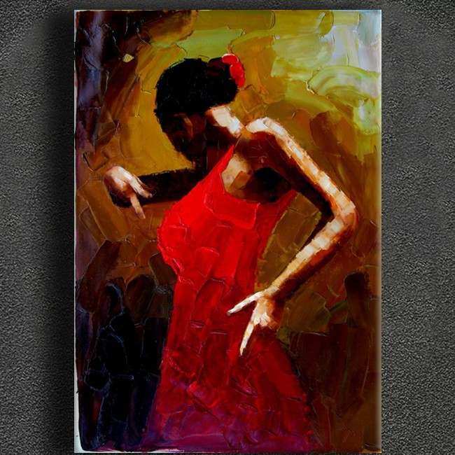High quality thick oil palette knife canvas pianting by Flamenco Artist