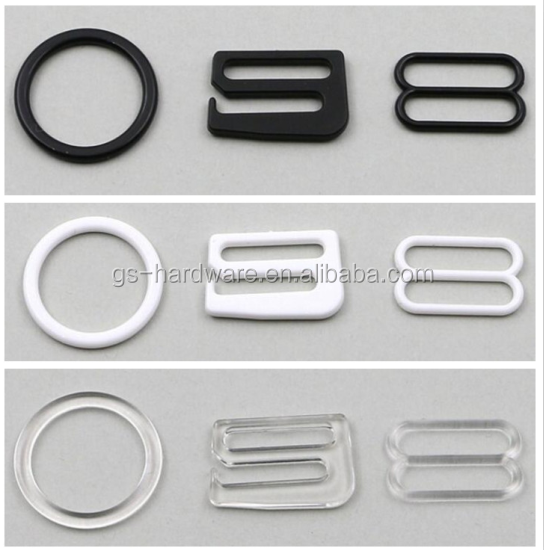 plastic ring slider qute and beauty design bra buckles 10mm,JX-B014