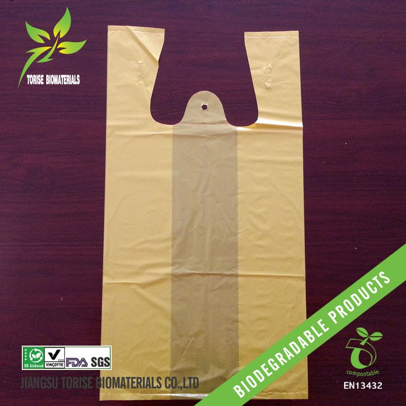 yellow t-shirt biodegradable bags