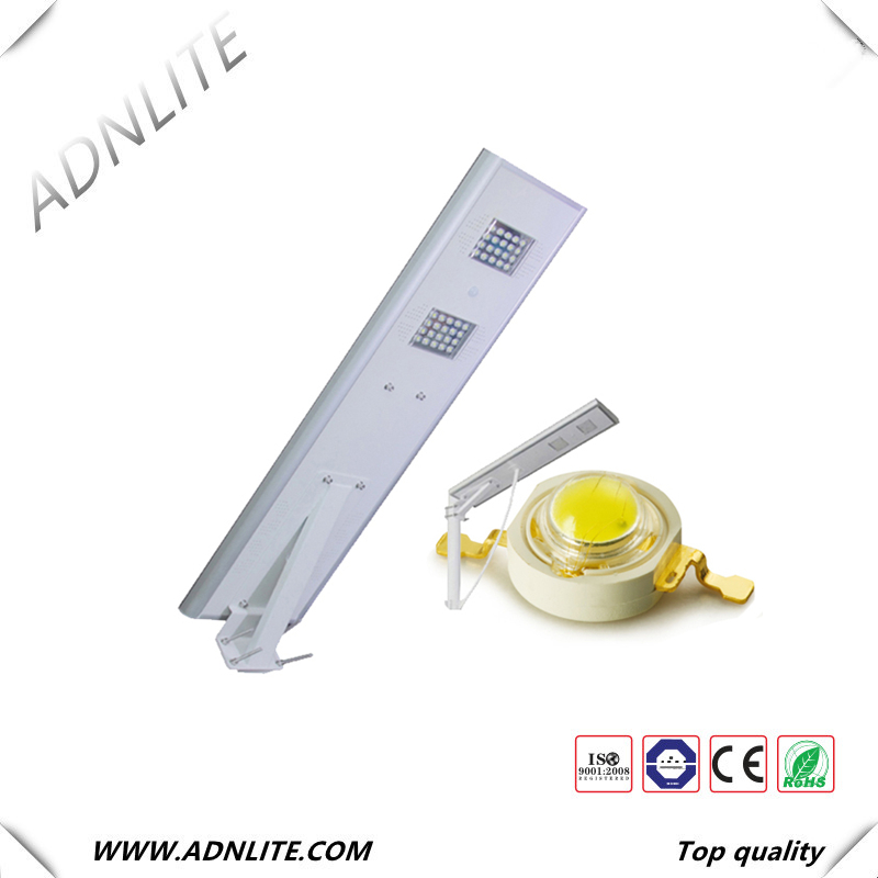 150lm/w IP65 intergrated solar street light proposal with antique street light poles and charge controller