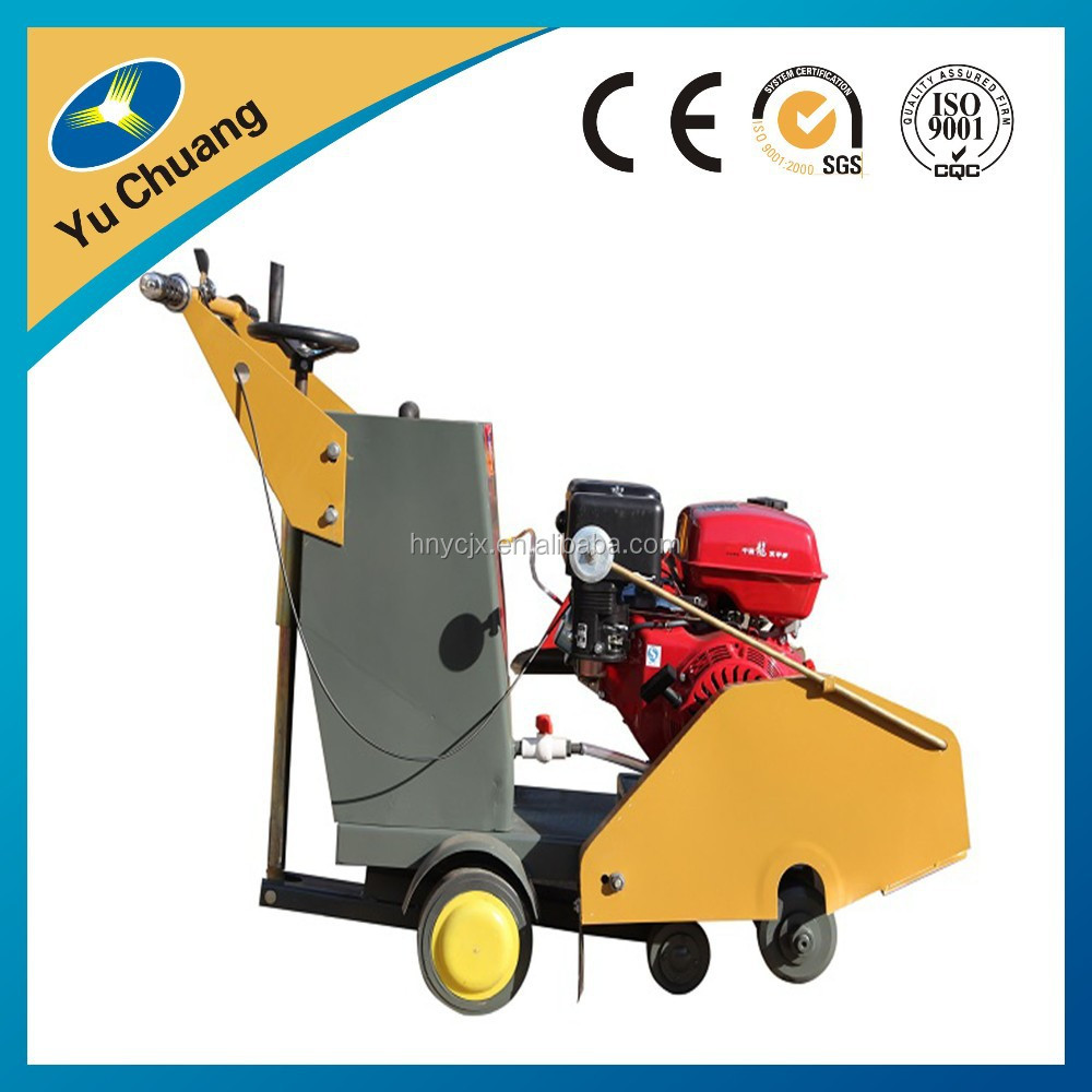 Gasoline concrete road cutter machine from creditable supplier.