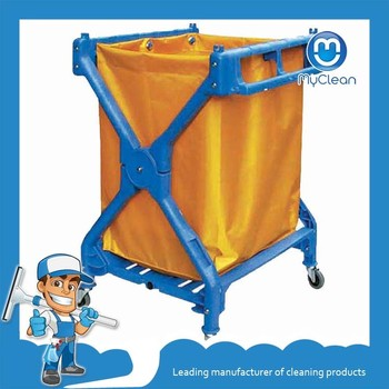 cheap laundromat cleaning trolley cart for sale