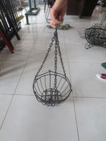 hanging basket/hanging fruit basket ikea/hanging basket chain china supplier