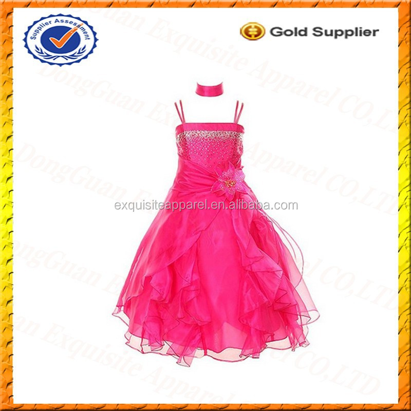 Custom Girl Pageant Dress/Evening Dress for Kids/Party Dress for Girls 4 Years Wholesale