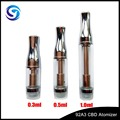 9A23 Medical Grade Glass CBD TANK 0.3/0.5/1.0ml 510 Thread for CBD oil wholesale E-cigarette