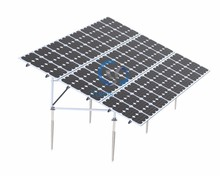 Steel Ground Screw Based Solar Mounting Bracket/20kw Solar PV Fixing System