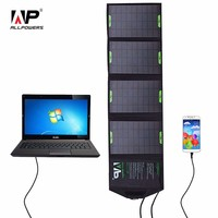 18V 14W Outdoor Foldable Solar Panel Charger Power Bank External Battery Pack for Laptop Mobile Phone iphone