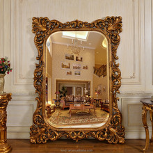 PU662 European Style Antique Hotel decorative Framed Wall Mirror