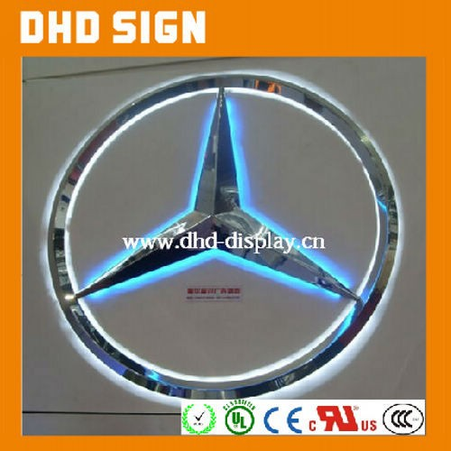 vacuum coating car logo/ backlit car logo with names