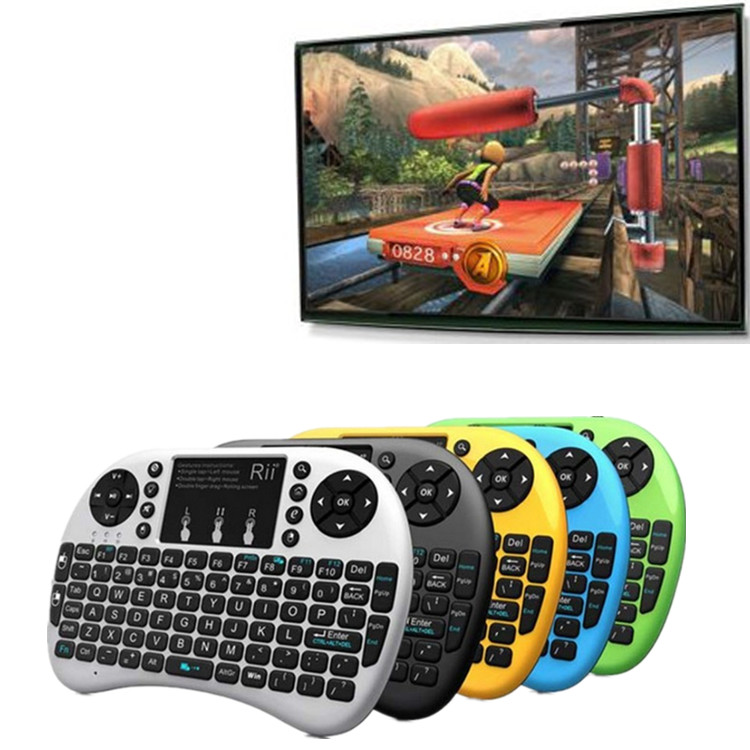 New styles Build-in removable rechargeable Li-ion battery i8 wireless keyboard for android tv box rii i8 mini bluetooth keyboard