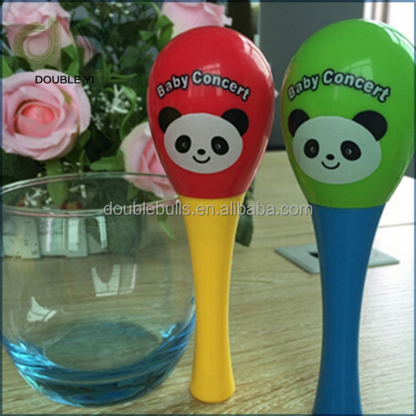 Customize Colorful Mini Plastic Maracas for Baby / Toy Percussion Music Instruments of Maracas