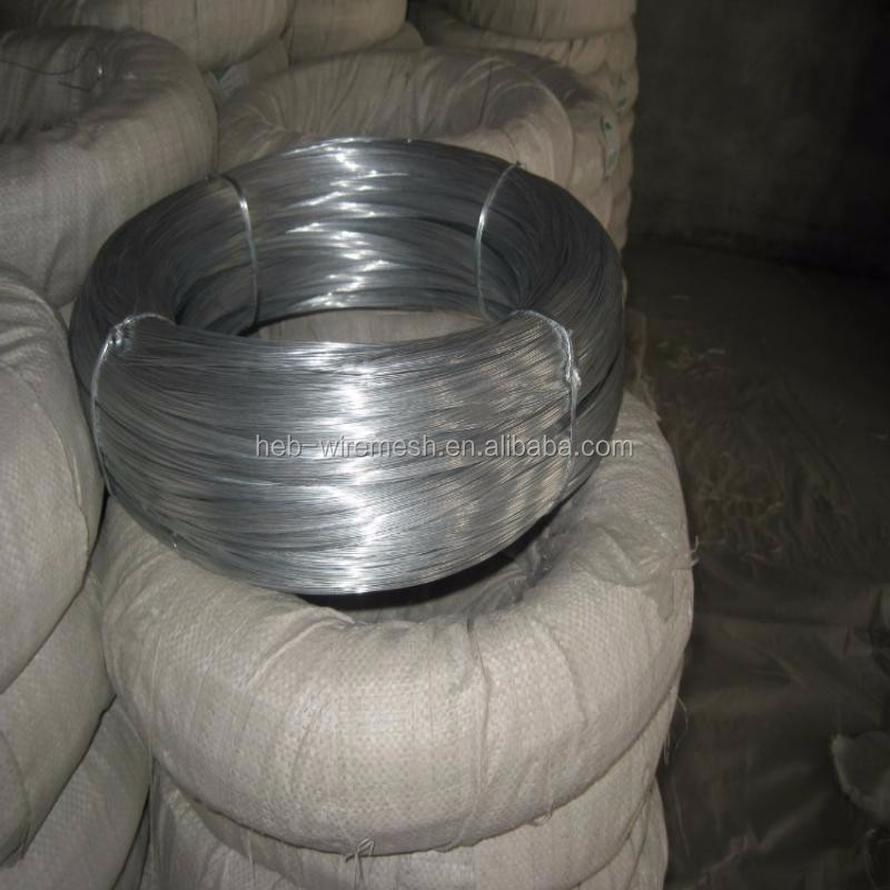 zinc coated bright wire for hook/ Crafts galvanised wire factory