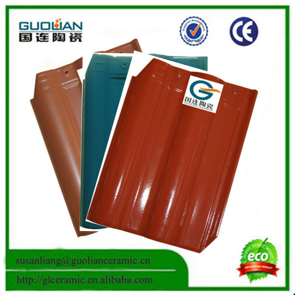 Chinese Guolian Brand Model A-45 glazed Ceramic concrete roof tile