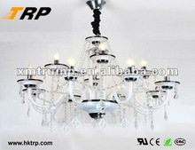 Candle decoration chrome hanging lights crystals