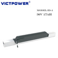 Victpower 36V 17ah rechargeable lithium battery for e-bike with USB port