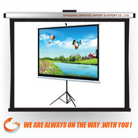 Different Size Tripod Standing Projector Screen wholesale use for education and bussiness