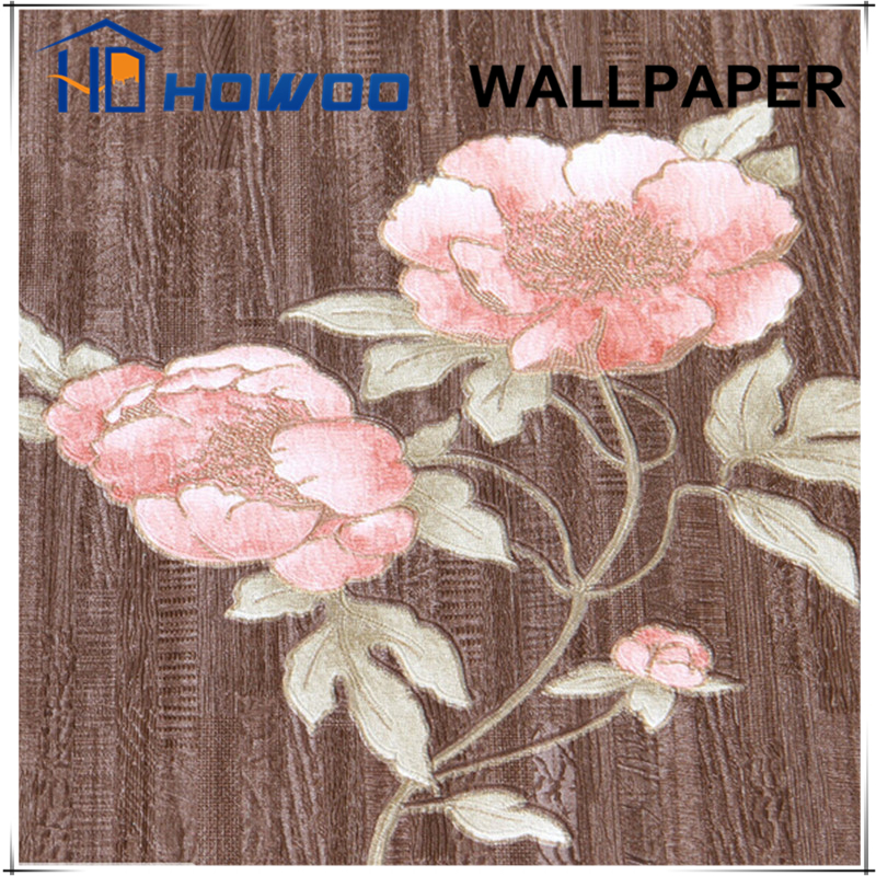 Howoo home interior designer flowers embossed decor wallpapers