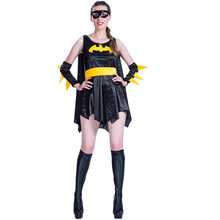 high quality sexy adult bat man halloween costume for women cosplay party dress