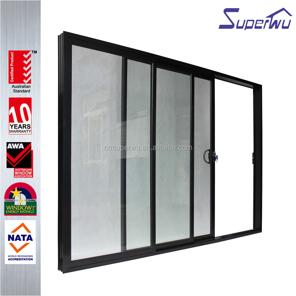 China product powder coated commercial automatic sliding glass doors