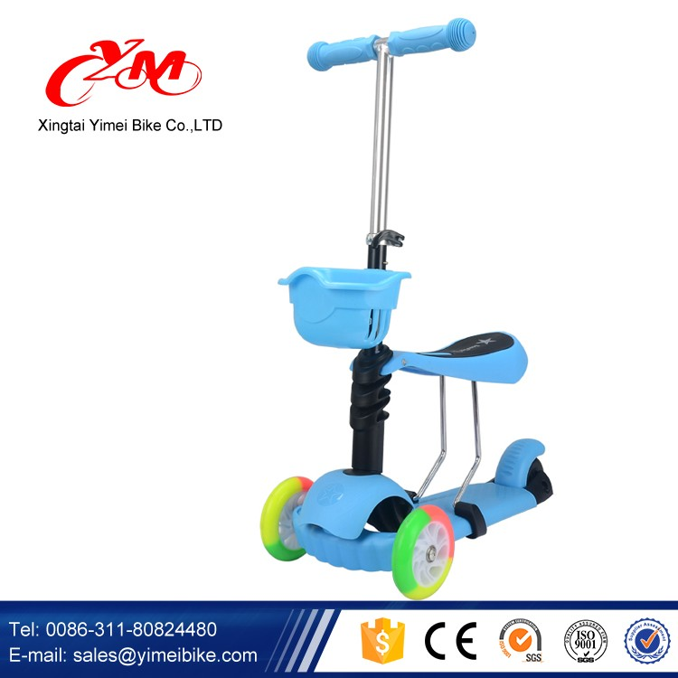 More popular with Girl Children three wheels scooter kids / New model toy foot pedal scooter / CE approved scooter for kids